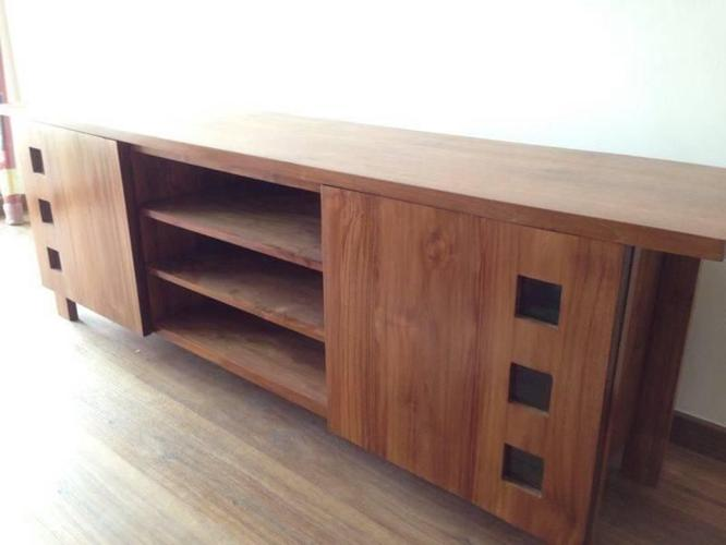 Teak Wood Tv Console Cabinet For Sale In Pending Road North