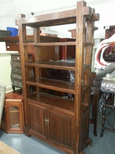 Teakwood BookShelf with Cabinet