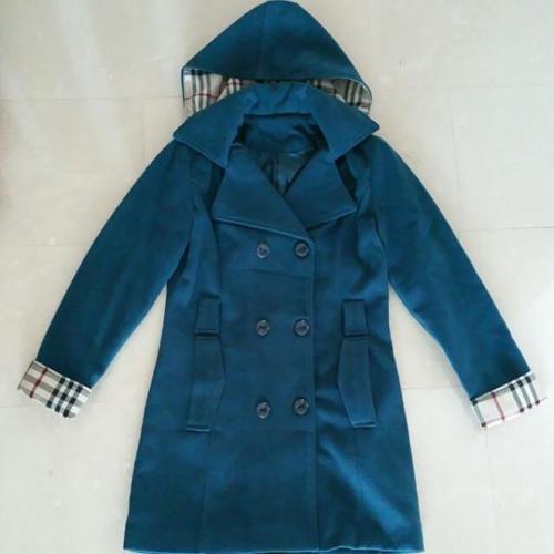 Tearl Blue Dress Coat