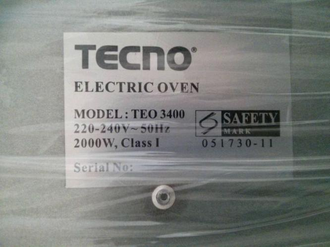 TECNO Electric oven for sale