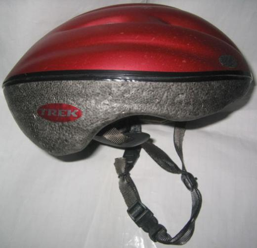 Trek helmet (maroon red) . Make 1991 (26-year-old
