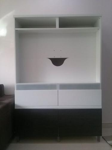 TV feature wall and console