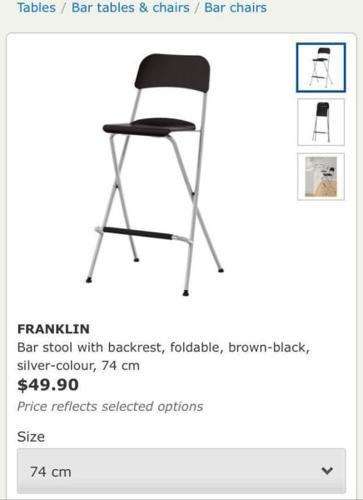 Two Ikea Barstools.