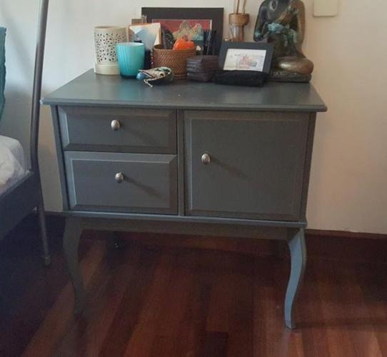 Two stylish matching bedside tables