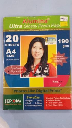 Ultra glossy Alumina photo paper