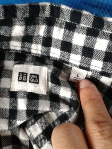 Uniqlo Black Check Shirt Size L