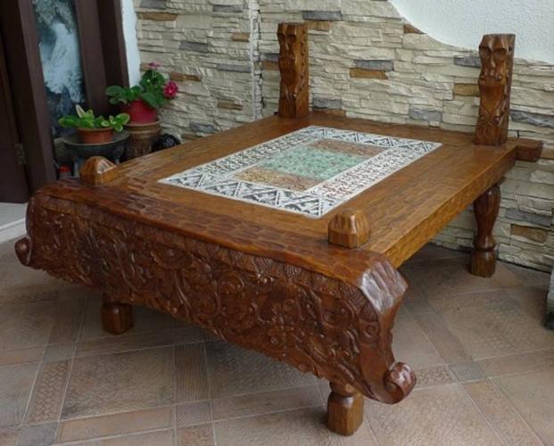 Unique Teak Coffee Table