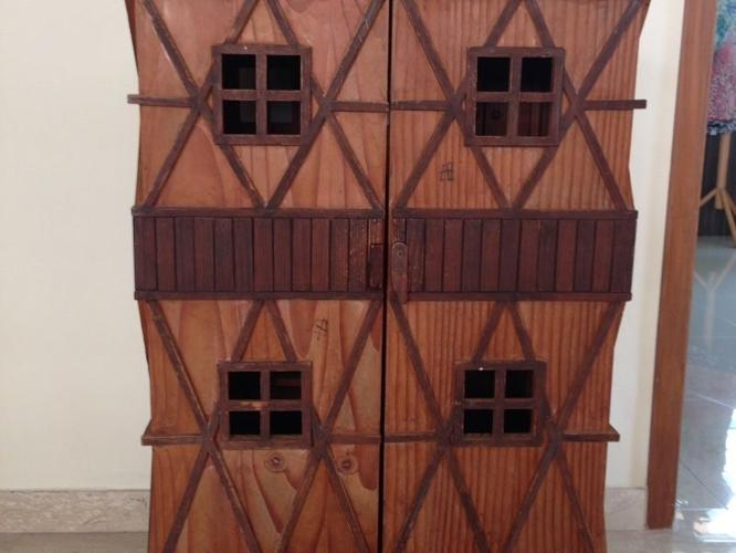Used 3.2feet wooden doll house $130