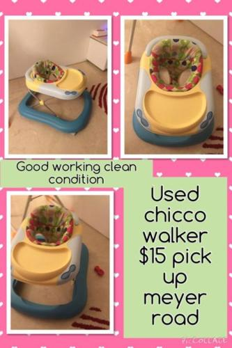 Used chicco walker not toy from smoke home clean good