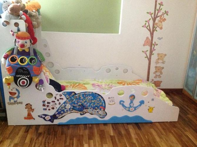 used children's bed with mattress at $350
