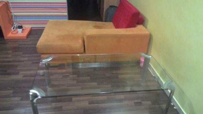 WTS: Used Designer L-Shape Sofa + Coffee Table $100