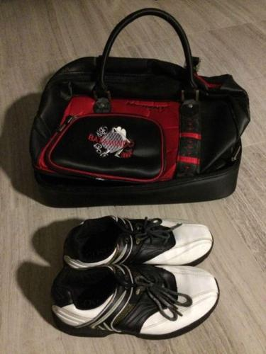 Used golf shoes USA size 8 for beginners (shoe bag