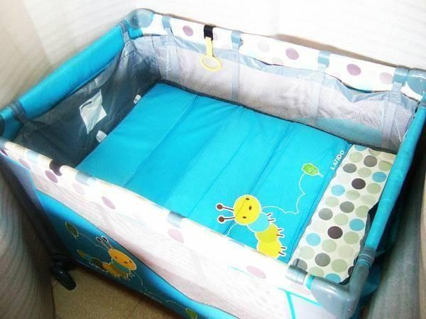 ~~~ USED LATIDO PorTaBLe DouBle DecK BaBy Cot / CraDLe