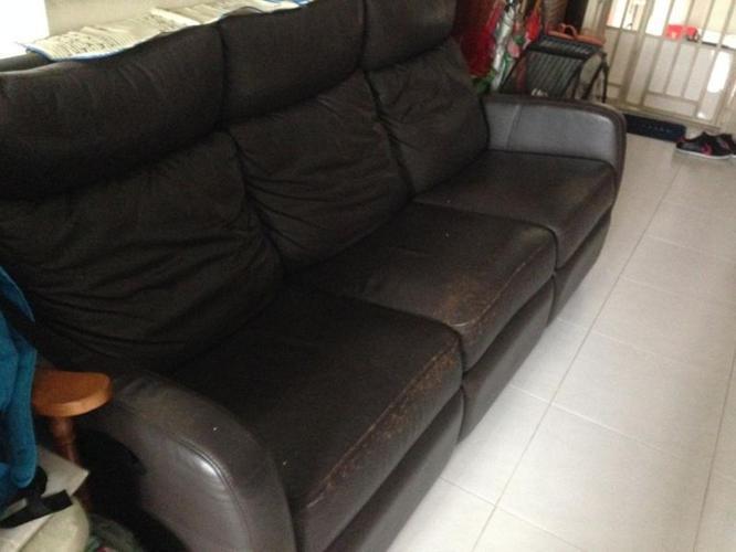 Used Leather Cellini Sofa