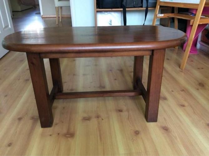 Used nice solid wood coffee table