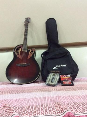 Used Ovation semi Acoustic guitar (CC44S-RRB) on sale