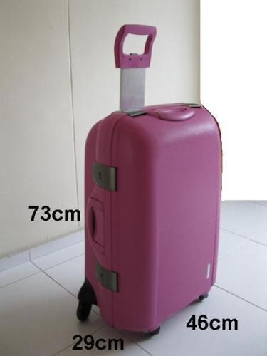 Used Pink Tough Hard Casing luggage bag for Sales at