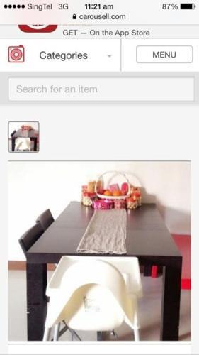 Used table bought fr Barang Barang!