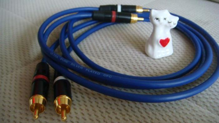 VAN DAMME (UK) PRO GRADE SILVER PLATED RCA INTERLINKS