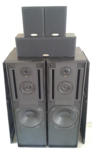 VERY GOOD CONDITION DENON FLOOR SPEAKERS WITH 3 BABIES