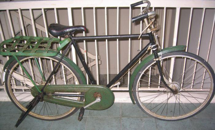 Very vintage Raleigh bicycle and yet a serviceble,