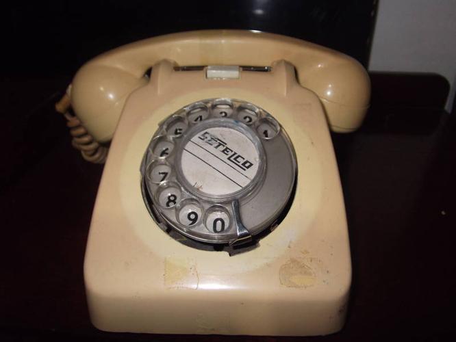 Vintage Beige Rotary Telephone