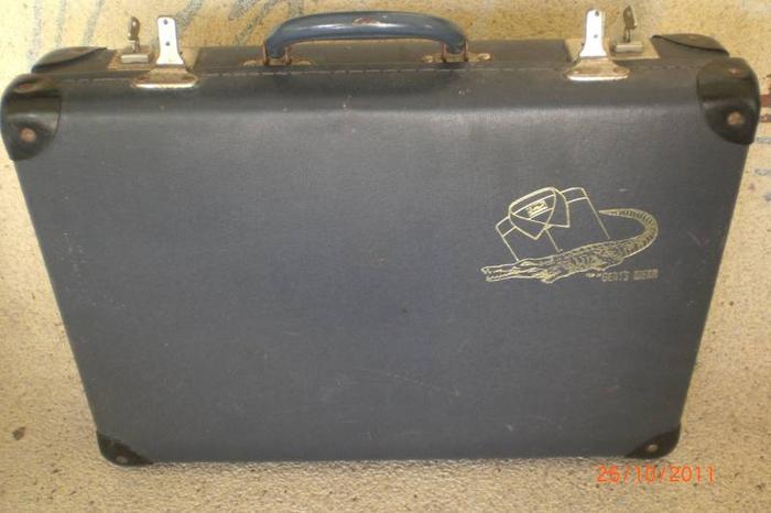 Vintage Crocodile Brand Men's Suitcase