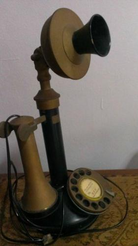Vintage Old candlestick telephone, Working condition.