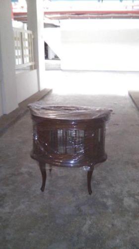 Vintage Oval Teak Wood Display Table.