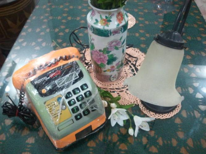 Vintage / Retro Coin Phone & a Beautiful Lamp for Sale
