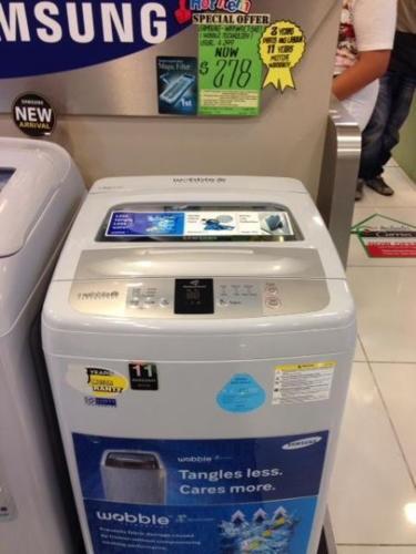 Washing machine - Samsung WA95W9 (7.5 kg) - moving