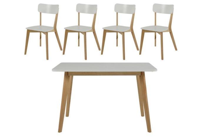White Birch Round Dining Set from IKEA
