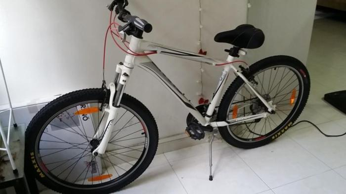White GIANT mountain bicycle ( new Maxxis large tyres ) for