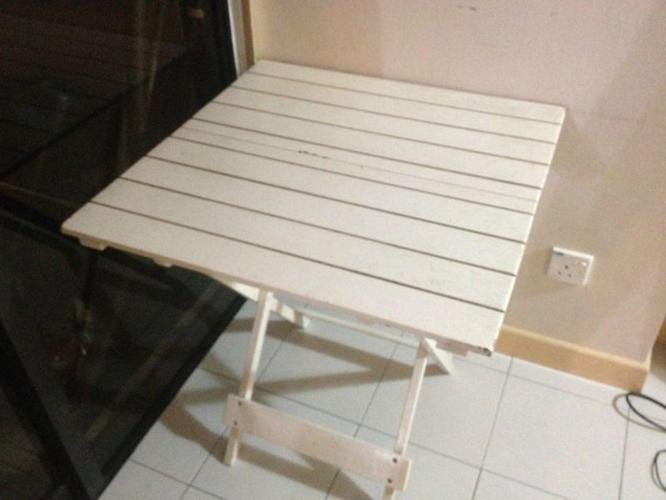 White wooden table for sale