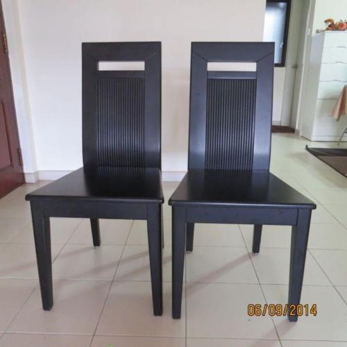 wooden chairs, dark brown colour