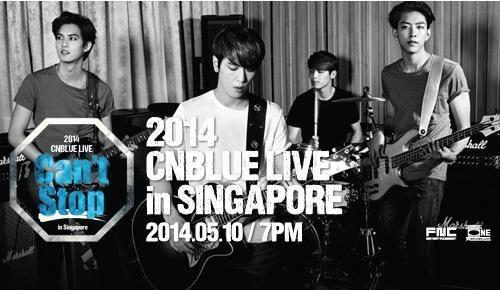 WTS CN BLUE Can't Stop Concert 2014 Ticket
