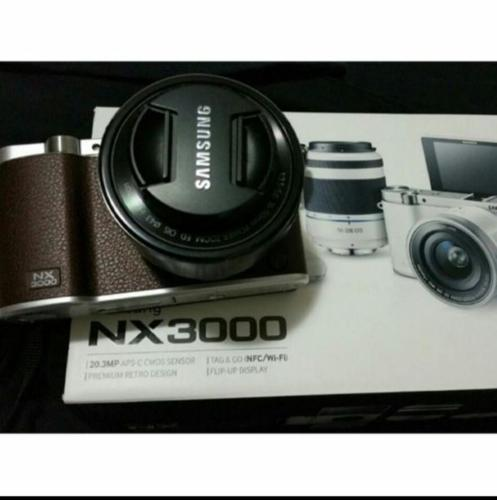 WTS Samsung NX3000 Brown with Twin Lens