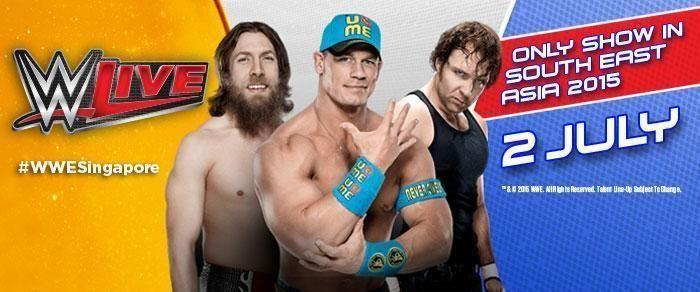 WTB: WWE LIVE SINGAPORE 2 JULY 2015 CAT 1 or CAT 2 -