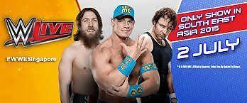 WWE Live Singapore 2/July/2015 Ticket CAT 2 Premium