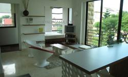 Very rare one bedroom Studio Apartment at D'Ecosia Designer Decor and Fully Furnished 540 sqft   Condo is styled like a Balinese Resort with lush landscaping, sculptures and ponds   Facilities include gym, swimming pool. jaccuzi, function