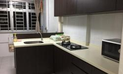 Full furnish with aircon in Both Rooms , High Floor, Windy , Shops downstairs only 10 mins to MRT , asking 900 Only Avail immediate Lady tenants or Family prefered 3i concept with seperate bathroom and toilet in Kitchen