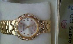 HUB Timepiece commented it's a good watch. Just overhaul for $26/- and selling at $100/- only. 1st come 1st serve. 23K gold plated. Will not tarnish!!! Come w a nice box. 1st come 1st serve...Very good buy!!!!