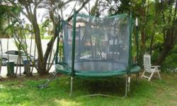Big trampoline for garden. Size diameter : 3 m