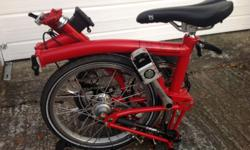 BROMPTON M3L FOLDING BIKE (RED) Type: Folding Bike Colour: Red Brand: Brompton Frame Material: Steel Model: M3L Number of Gears: 3 Gender: Unisex Adults
