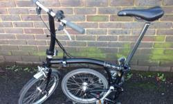 Type: Folding Bike Colour: Black Brand: Brompton Frame Material: Steel Model: S2L Number of Gears: 2 Gender: Unisex Adults