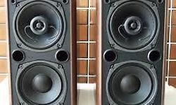 One pair of Denon bookshelf speakers, very good condition. great sounding. call/ sms 9191 4549