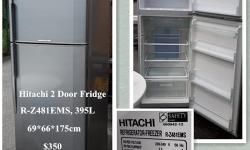 Hitachi 2 Door Fridge,R-Z481EMS, 395L,69*66*175cm,free delivery. We have 14f and 10f Lorries, can provide Moving Services/ Transport/ Delivery/ Disposal Service. More information, please visit http://second-handfurnitureshop.blogspot.sg Pls call /SMS or