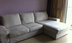 American expat heading home after a year in Singapore. Selling furniture. -Sectional sofa/couch bought from IKEA -Chaise lounge can be moved from left to right -1-year old (with receipts) -From a smoke and pet free home. -Priority will be given to those