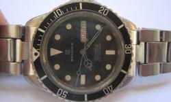 Welcome to my Singaporelisted Store   Description:   Stunning SANDOZ Submariner Scuba DIVER Model  SWISS Made  Working Condition Day Date Automatic Winding Men's Wrist Watch  Sandoz Watch Company 100 metres 25