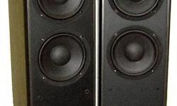 Robertson Audio M-Phorce MP-22 speakers for sale.  MP-22 is a two-way design with a bass reflex port located at the rear. It has twin 8 inch paper-cone mid/bass drivers with butyl rubber surrounds for durability and one 13mm